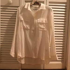 Madewell Half Button Down Shirt